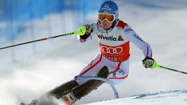 Marlies Schild of Austria competes in the first run of the women's slalom Sunday in Aspen, Colo.