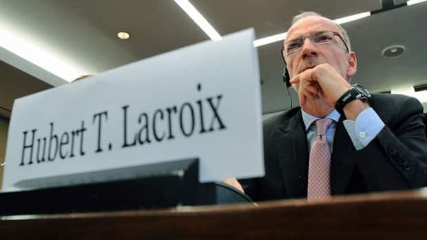 CBC President Hubert Lacroix appears as a witness at a committee in Ottawa on Oct. 25, 2011 to discuss the CBC/Radio-Canada five-year strategic plan. Lacroix said Monday the broadcaster turned over some documents to the House Ethics committee examining its refusal to release some records to a competitor under federal access to information laws.