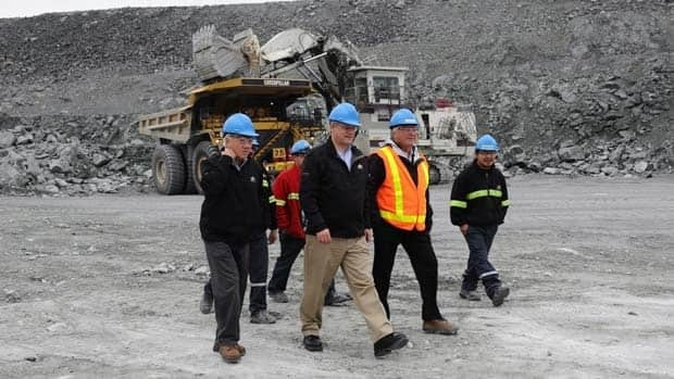 Prime Minister Stephen Harper tours a gold mine in Meadowbank Mine, Nunavut on his recent trip to the Arctic. Expansion in the mining sector has helped small businesses succeed in Canada's north.