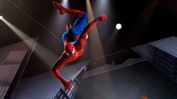 Broadway musical Spider-Man: Turn Off the Dark has been plagued by a host of problems, including cast injuries, financial woes and multiple delayed openings. (Jacob Cohl/The O and M Co/Associated Press)