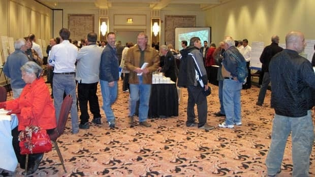 Cliffs Natural Resources will hold an open house in Timmins Monday evening as it consults with northern Ontario communities concerning a ferrochrome processing facility. The company held an open house in Thunder Bay last month, pictured above.