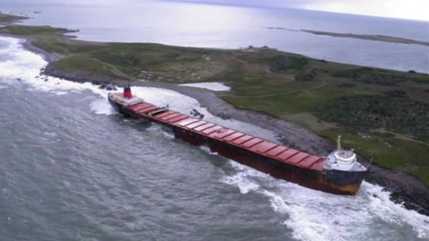 MV Miner ran aground off Scatarie Island, a provincially designated wilderness management area, on Sept. 20., 2011.