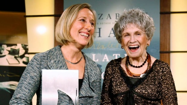 2013 Nobel literature laureate Alice Munro, right, is seen with fellow author Elizabeth Hay at the 2009 Giller Prize gala in Toronto. Canadian writers are ecstatic over Munro's Nobel honour.