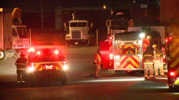 Emergency crews were called to the Day and Ross building in Donovans Industrial Park around 6:30 p.m. Wednesday.