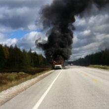 Vehicle fire near Deer Lake