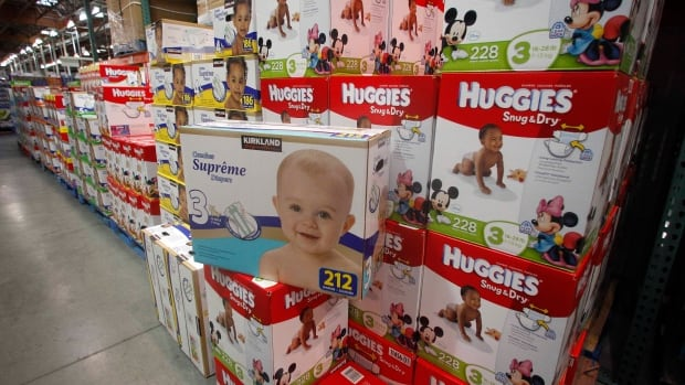 Diapers are likely to cost you less at a Costco in Portland, Ore., above, than at one of the chain's Canadian stores. A BMO study found Canadians pay 34 per cent more for diapers than U.S. customers.