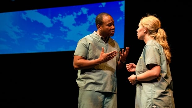 Ray Strachan and Andrea Houssin in Good Intentions by local playwright Ginny Collins.