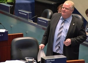 Mayor Rob Ford seen during Ward 3 appointment process