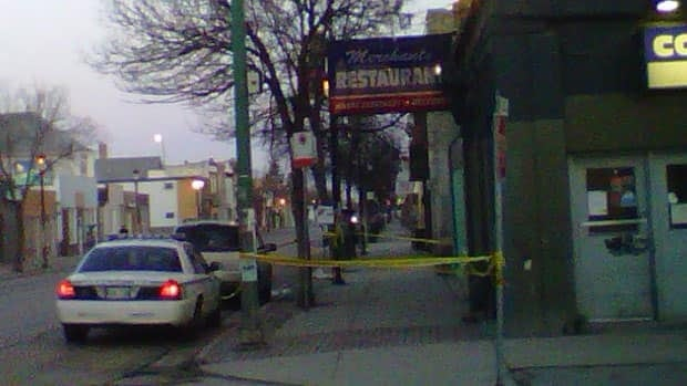 A woman was stabbed at the Merchants Hotel and later died in hospital.