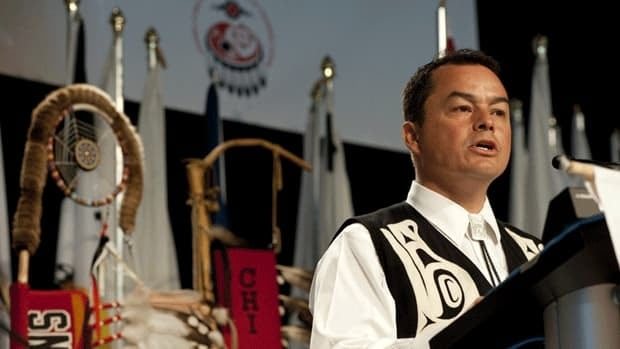 National Chief Shawn Atleo, here at the 32nd Annual General Assembly of the Assembly of First Nations in Moncton, says 'unilaterally imposed decisions' from Ottawa are not the answer to Attawapiskat's problems.