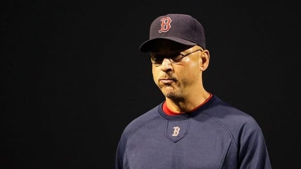 Manager Terry Francona of the Boston Red Sox walks back to the dugout during a game against the Baltimore Orioles at Oriole Park.