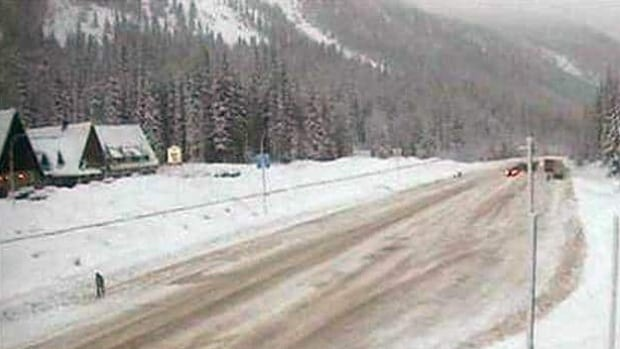 The Trans-Canada Highway through Rogers Pass in Glacier National Park, B.C., was closed because of an avalanche risk on Wednesday and Thursday.