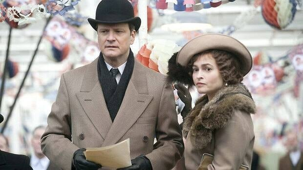 British actors Colin Firth and Helena Bonham Carter are Oscar nominees for portraying King George VI and the Queen Mother in The King's Speech.