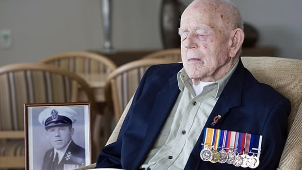World War I veteran Claude Choules sits in the Gracewood Retirement Village lounge room in Salter Point, a suburb of Perth, Western Australia, in this Sept. 11, 2009 photo supplied by the Royal Australian Navy. Choules died Thursday at the age of 110.