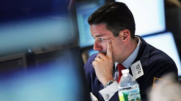 North American stocks were down Wednesday amid worries about how Europe's debt crisis could affect banks in the U.S. The Dow Jones industrial average lost close to 200 points.