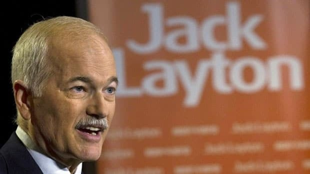 NDP Leader Jack Layton's parliamentary contingent is now tied for the largest ever Official Opposition to a majority government in Canadian history.
