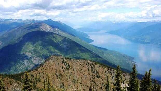 An aerial view of the Selkirk Mountains and the Darkwoods lands. (Nature Conservancy of Canada)