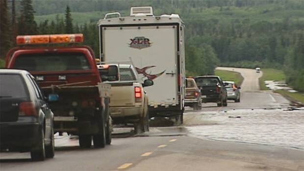 Highways and low-lying areas in Northern Alberta were flooded after heavy rains this week.