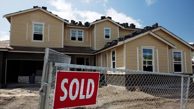 Sales of new homes in the U.S., such as this one in Danville, Ca., fell one per cent in June to an annual rate of 312,000.