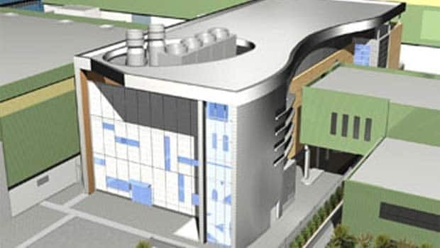 An artist's rendering shows what the new ARIEL medical isotope lab will look like when it is completed.