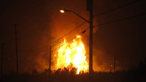It took about seven hours for the fire to burn itself out after a ruptured TransCanada PipeLines gas main exploded near Beardmore, Ont. in February of 2011.