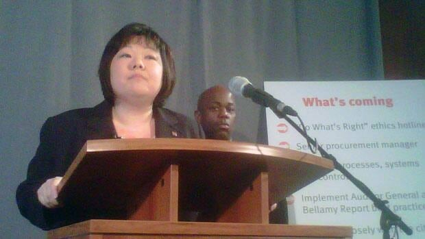 """Keiko Nakamura, Toronto Community Housing Corp.'s CEO, said she was """"shocked and appalled"""" at the auditor general's findings. (Steven D'Souza/CBC)"""