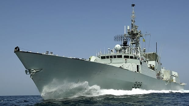 HMCS Charlottetown, seen conducting a patrol in the Northern Arabian Sea off the coast of Pakistan, will head for the waters off Libya's coast on Wednesday, Prime Minister Stephen Harper says.