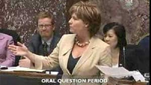 Former B.C. NDP MLA David Schreck sparked a fierce debate on Twitter and in public after questioning how much cleavage Premier Christy Clark was showing in during question period on Wednesday.