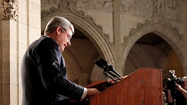 Prime Minister Stephen Harper said Friday from Parliament Hill that sanctions are being prepared against the Libyan regime.