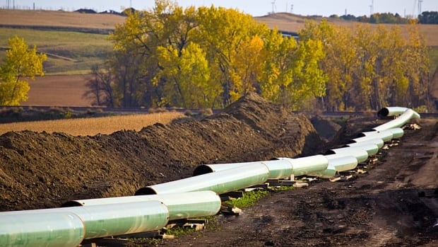 Enbridge says the proposed Northern Gateway pipeline would be buried underground, similar to this TransCanada pipeline.