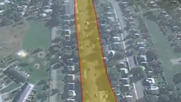 This is what Bayers Road would look like if expanded to six lanes.