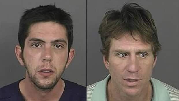 Mark Rubinson(left) and Robert Young have been charged with abusing a corpse, identity theft, and criminal impersonation.