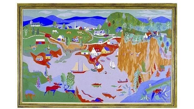 Alfred Pellan's painting of eastern Canada that was hanging in the Lester B. Pearson building in Ottawa until June.