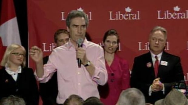 Liberal leader Michael Ignatieff speaking in St. John's April 4.