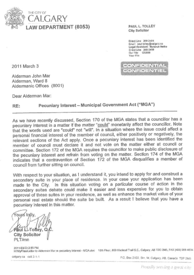John Mar secondary suites letter