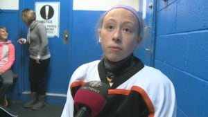 Western Labrador hockey player Jessie Reccord