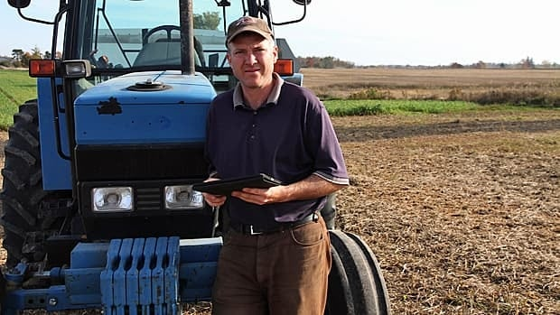 Wayne Black often tweets from his iPad on his farm in southwestern Ontario.