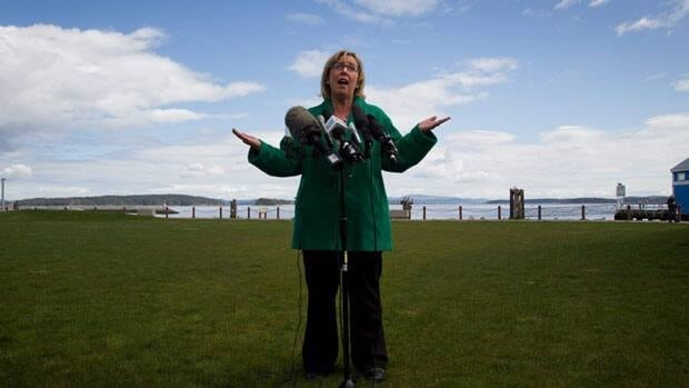 Green Party Leader Elizabeth May wants Environment Canada to change its mind on letting 46 employees go whose work is focused on the impact of climate change.