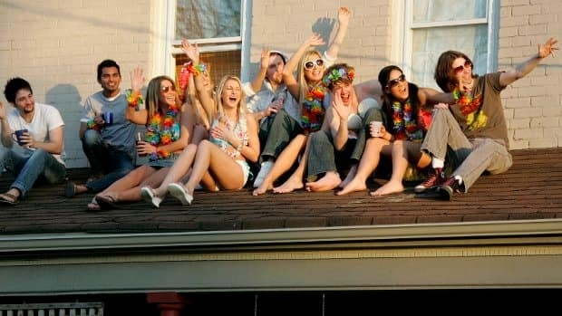The University of Western Ontario has been selected among the Top 10 party schools in North American by Playboy magazine. In this 2007 file photo, students celebrate the end of their school year.