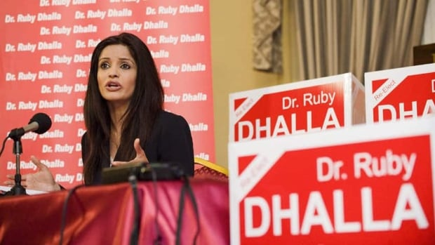 Ruby Dhalla, seen in 2011, was the MP for Brampton–Springdale until she lost the seat that year. She held a formal announcement Sunday to say she won't run in next year's election.
