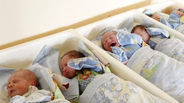 Babies in a perinatal centre at Moscow city hospital No. 8.