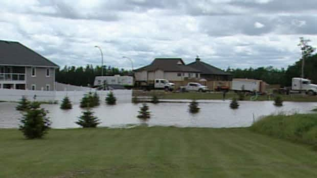 Flooding was caused by heavy rain that fell over the area Monday.