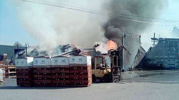 A fire broke out a sawmill in the Ruskin area of Maple Ridge on Friday morning.