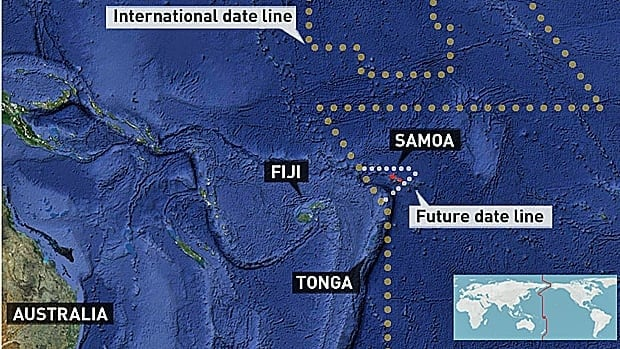 Samoa and the neighbourning island of Tokelau are moving the international date line to align the islands' time with key trading partners in the Asia-Pacific region.