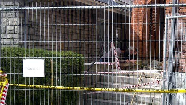 Investigators were on the scene after Ben Long died after a concrete slab fell on him.