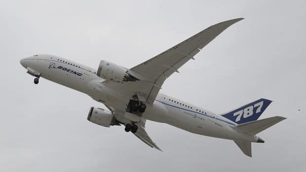 Boeing's new 787 Dreamliner takes off from Houston's Bush Intercontinental Airport on Feb. 3, 2011. The plane is one of seven experimental models being tested before the first commercial planes are delivered in late 2011.