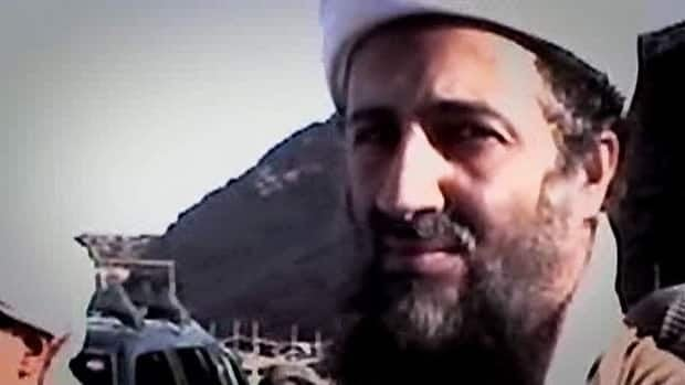 Osama bin Laden, the head of the international terrorist cell Al-Qaeda, is pictured in footage used in a CBC documentary.