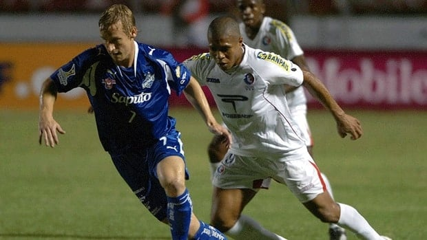 Former Montreal Impact player David Testo, left, competes in 2008. Testo says his homosexuality was not a secret to his family, friends, and teammates, but he regrets keeping it from the public.