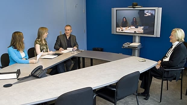 One of the five telepsychiatry studios at the Hospital for Sick Children in Toronto.