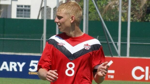 Bryce Alderson, seen in action at the 2011 CONCACAF Under-17 Championship, was named Canada's top U-17 player for the second straight year Monday.